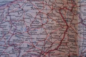 Mapa Pomorza Zachodniego z 1958 - okolice Szczecinka