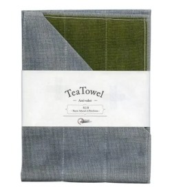 Nawrap Tea Towel Moss Green w/ Binchotan Charcoal