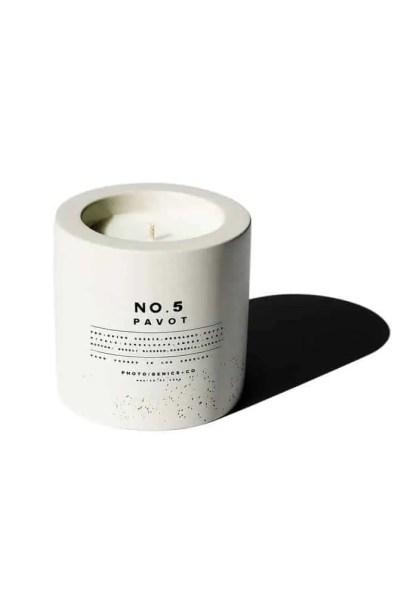 Photogenics + Co No. 5 Concrete Candle