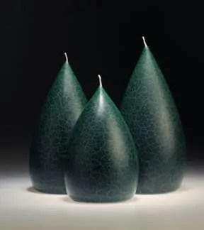 Round Forest Green Barrick Design Candles at Lemonceillo Home & Gift