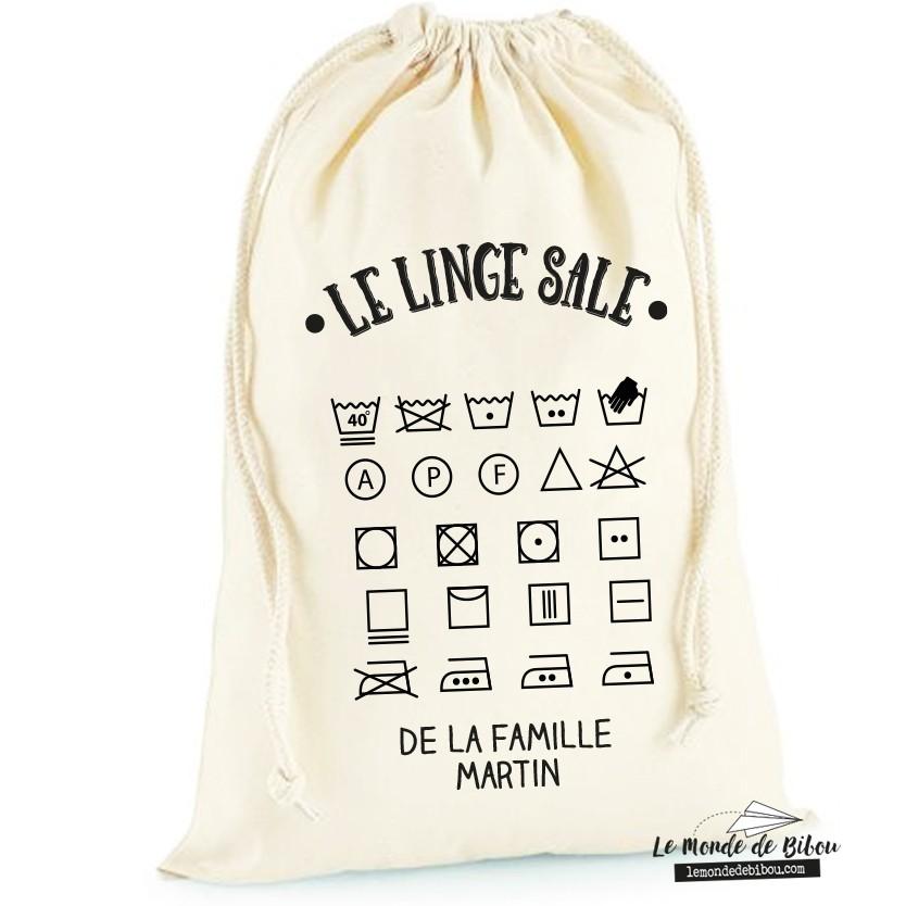 Sac A Linge Sale Personnalisable Le Monde De Bibou