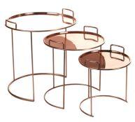 Set de 3 tables gigognes Tray Round ©PolsPotten