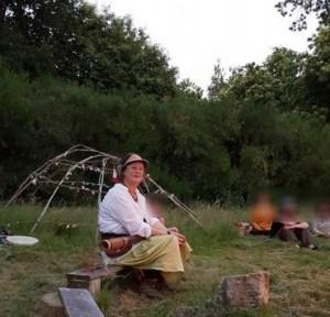 Carole Elimiah, stage chamanique avec hutte de sudation