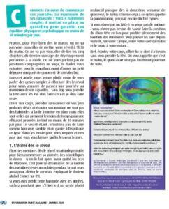 magazine de santé publie sur la formation Ecoute Holistique Sensitive ®