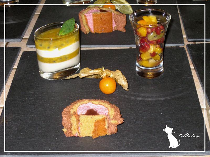 Dessert De Noël Verrine Mousse Ivoire Et Gelée Passion