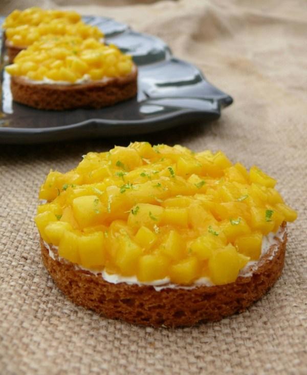 tartelettes mangue et mousse vanille