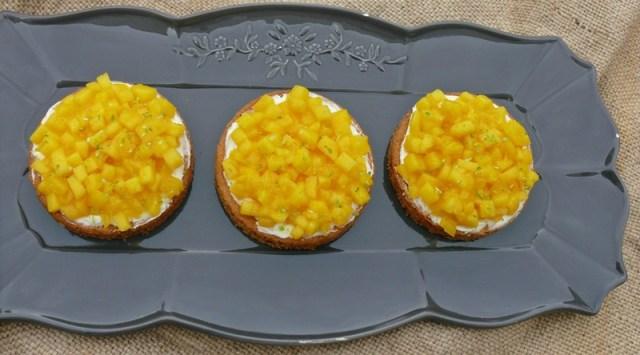 tartelettes sablées mangue et vanille