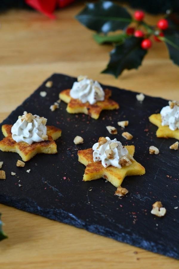 toasts polenta bleu auvergne