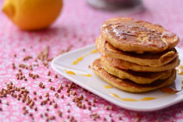 pancakes kasha amande citron