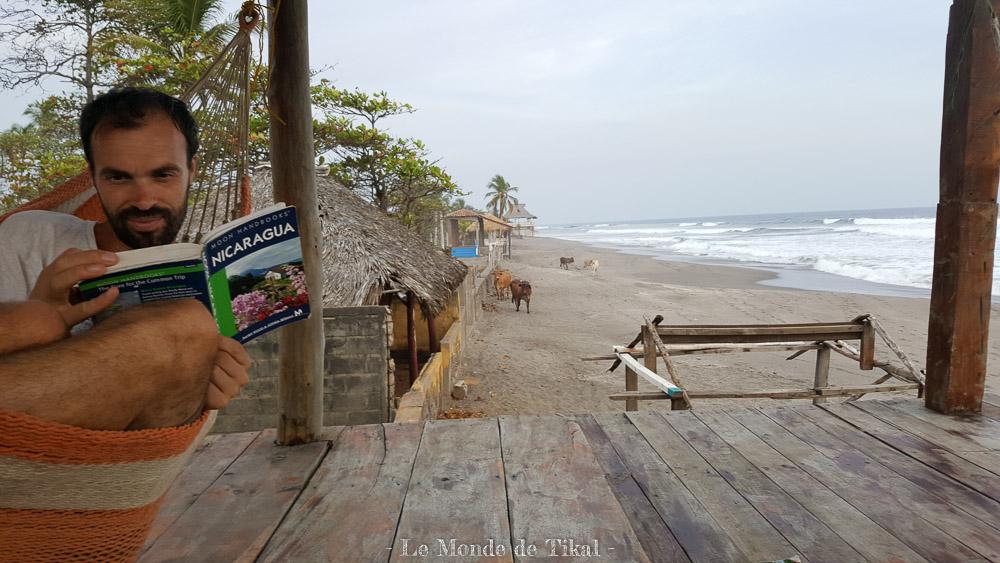 nicaragua pacific pacifique las penitas sable sand mer sea cow vache hamac