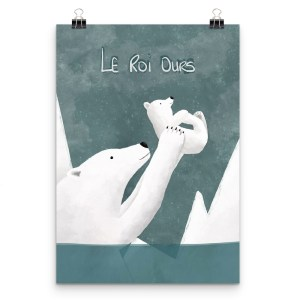 affiche ours blanc