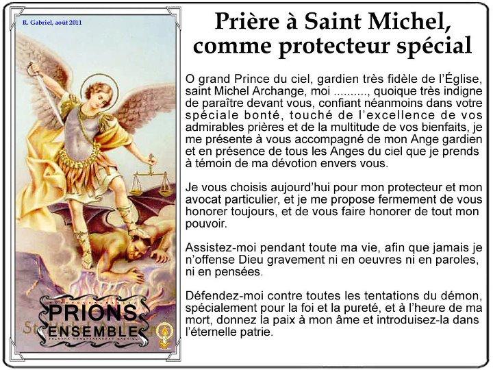 Résultats de recherche d'images pour «st michel archange priere protection»