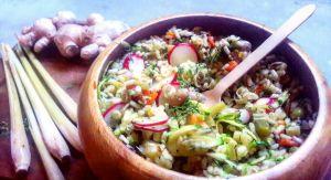 insalata riso integrale lemongrass