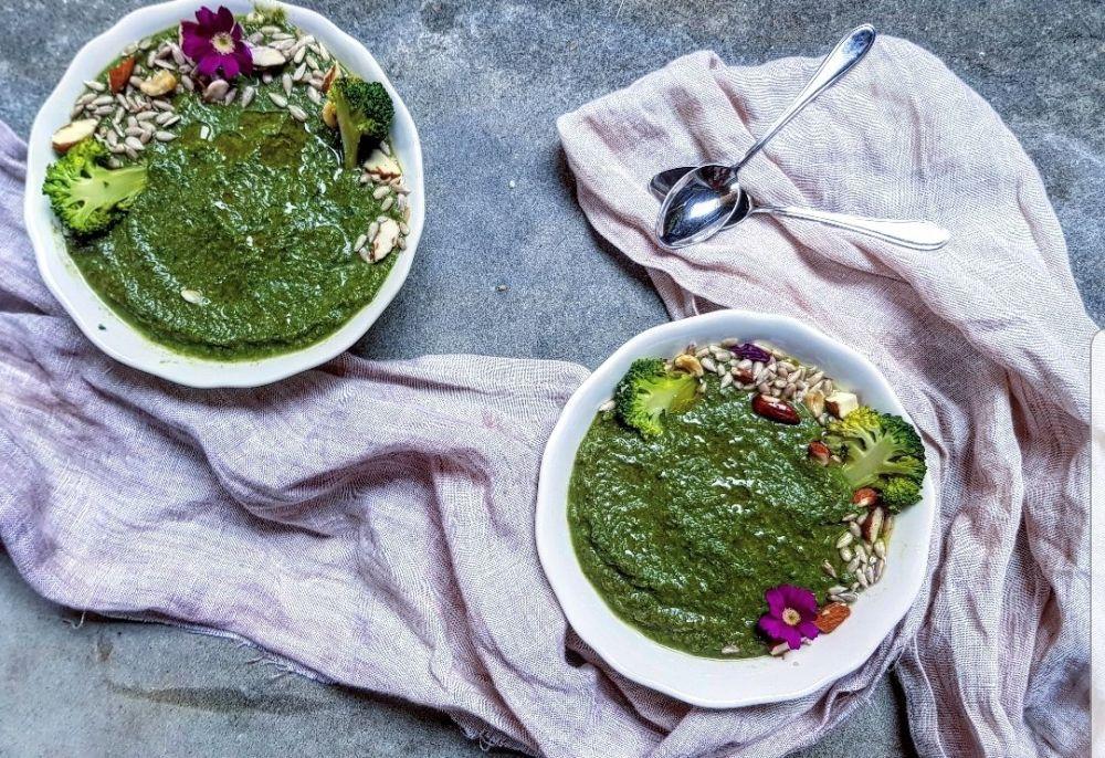 crema di broccoli e spinaci