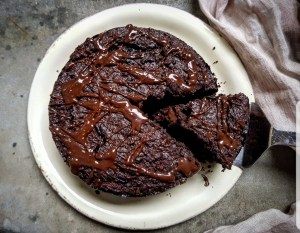dark chocolate and beet root cake