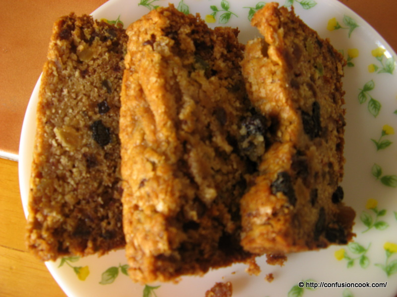 Eggless Xmas Fruit Cake