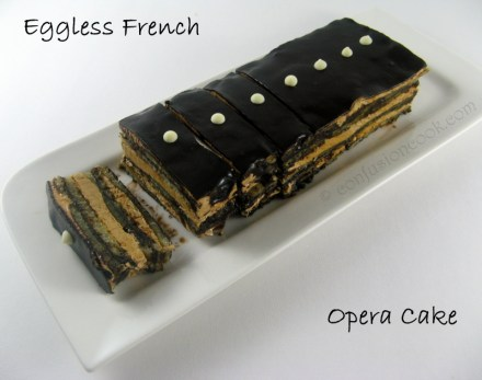 Eggless French Opera Cake