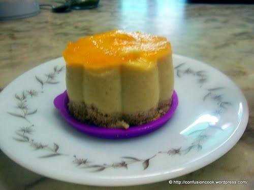 Eggless No-bake Mango Cheesecake