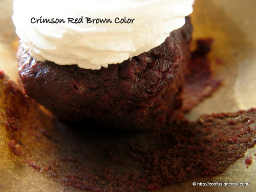 Eggless Red Velvet Cupcake