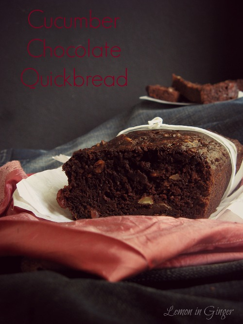 Eggless Chocolate Cucumber Banana QuickBread | Alternative to #zucchini