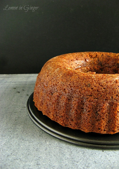 Eggless Christmas Whole Wheat Bundt Cake | Soak, Mingle, Age & Feed in Rum