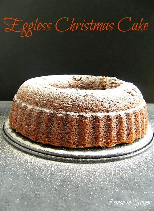 Eggless Christmas Whole Wheat Bundt Cake | Soak, Mingle, Age & Feed in Rum