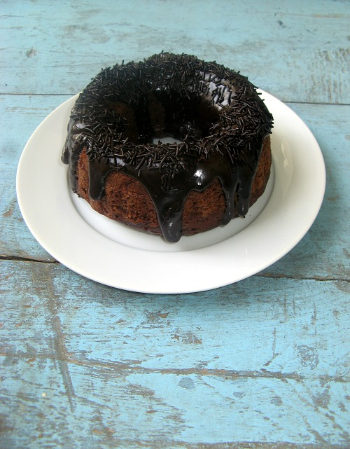 Eggless Triple Chocolate Mini Bundt Cake