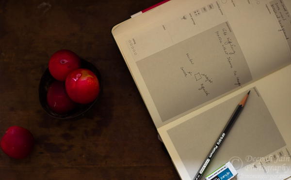 Apple and Plum Crisp | Moleskine Recipe Journal
