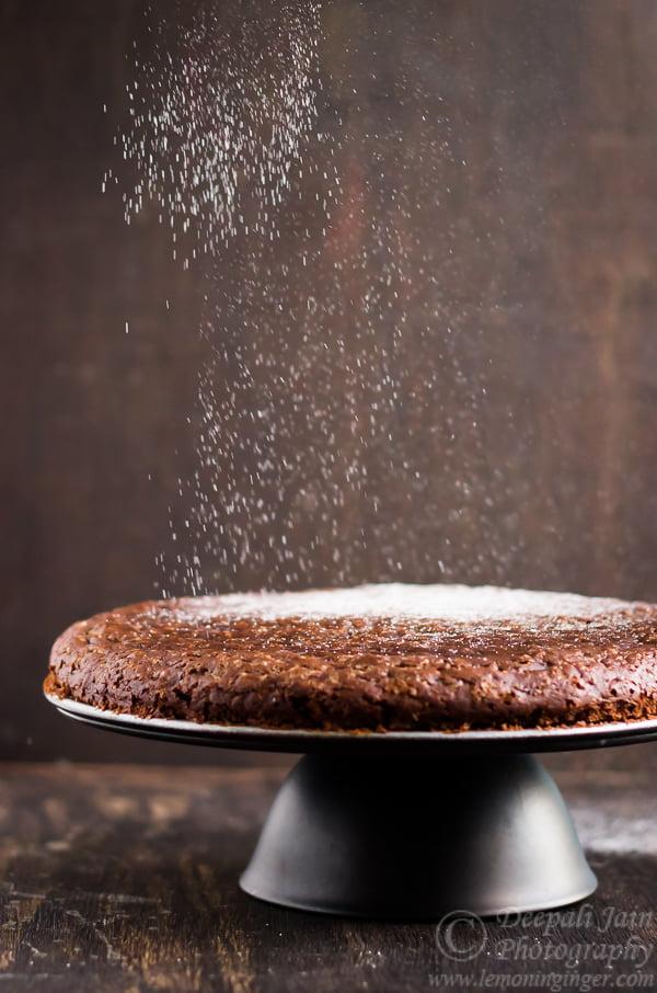 Eggless Whole Wheat Chocolate Wine Cake