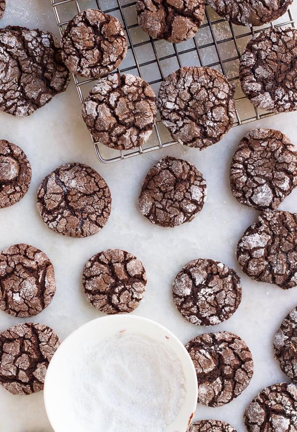 Eggless Whole Wheat Crinkle Cookies