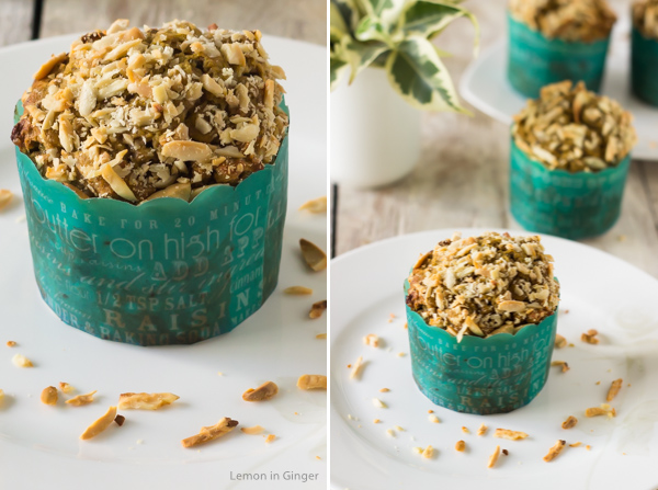 Eggless Date and Walnut Green Tea Infused Cupcakes