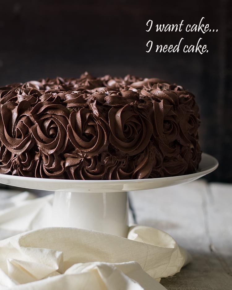 Ombre Tiramisu Cake with Ganache