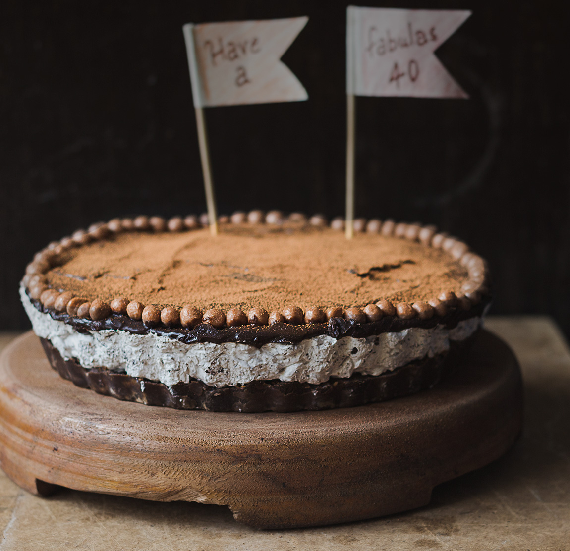 No Bake Chocolate Mousse Cake