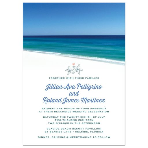 Destination Wedding Invitations Beautiful Beach Scene