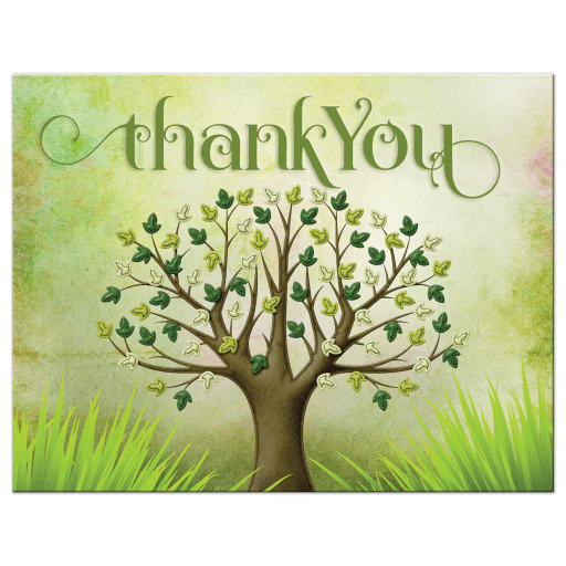Tree of Life Bar Mitzvah Thank You Postcard