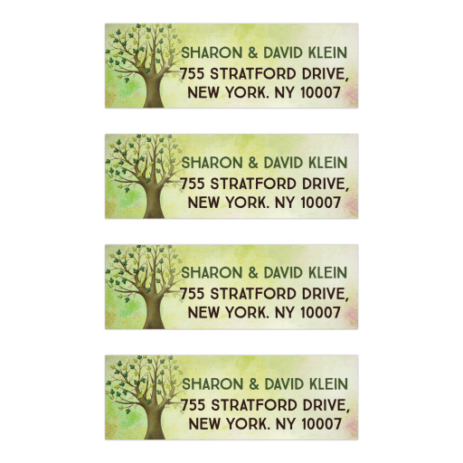 Tree of Life Bar Mitzvah Address Labels