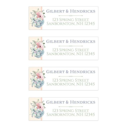 Pastel succulent wedding address labels