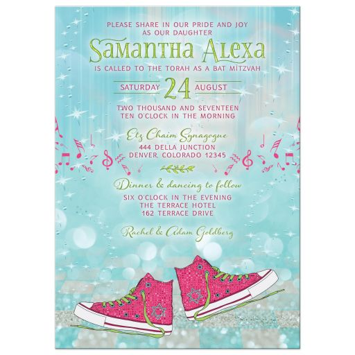 Converse Sneakers Ballroom Bat Mitzvah Invitation