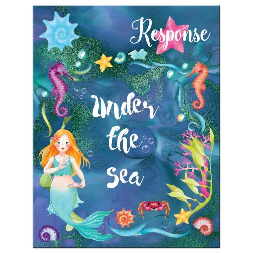 Under the Sea Mermaid Bat Mitzvah RSVP Card