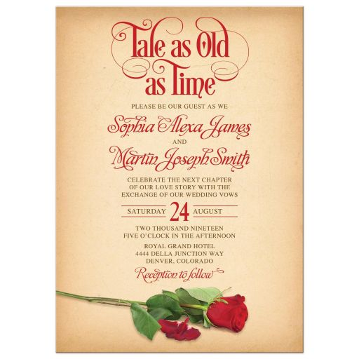 Party Simplicity Fairy Tale Wedding Invitations With Medieval