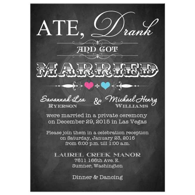 Elegant Nautical Post Wedding Reception Only Invitations
