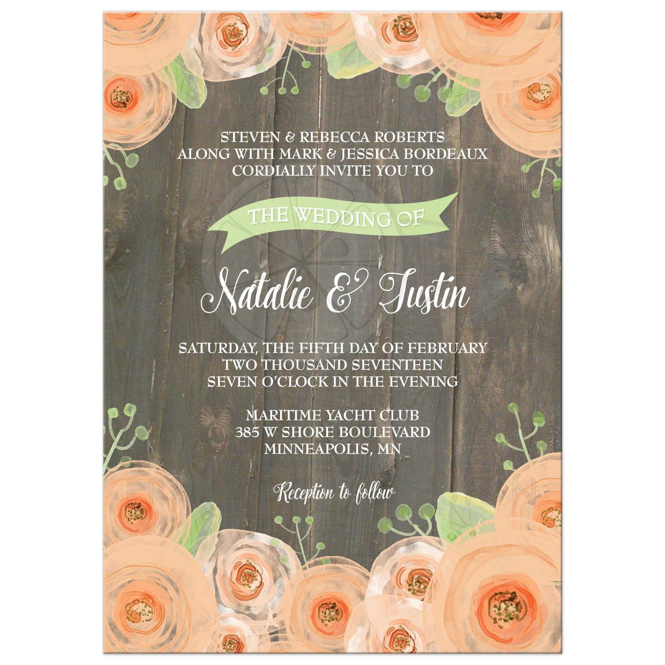 Pink And Brown Country Wedding Labels