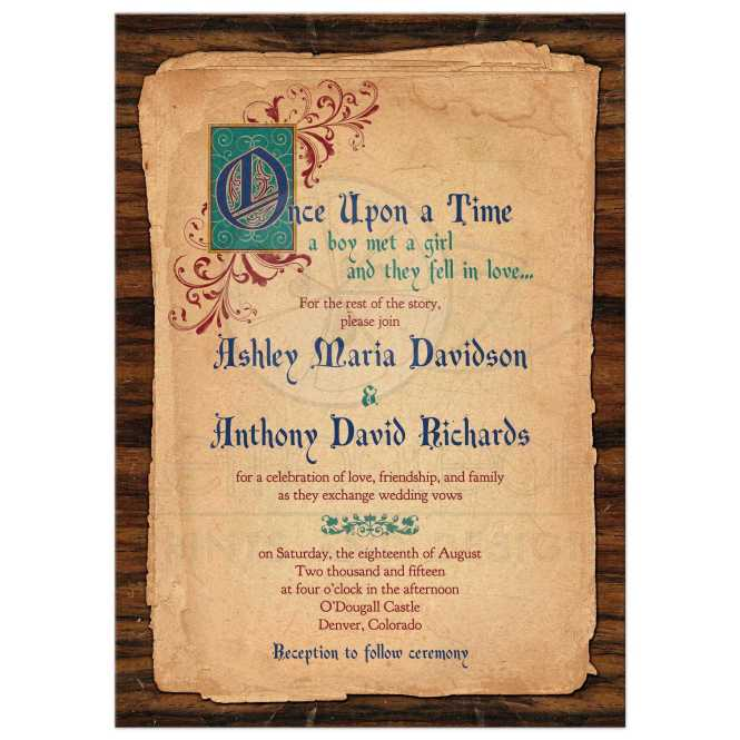 Fairy Tale Wedding Invitation Meval Once Upon A Time
