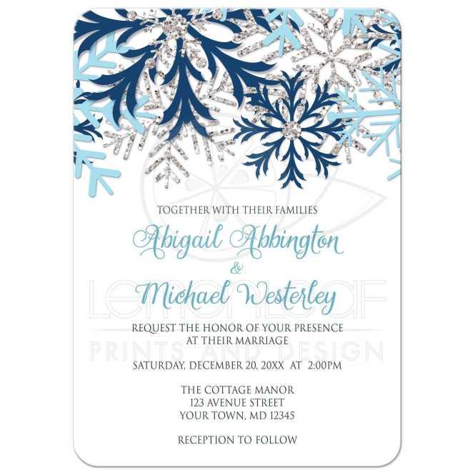 Tiffany Blue And Silver Invitation