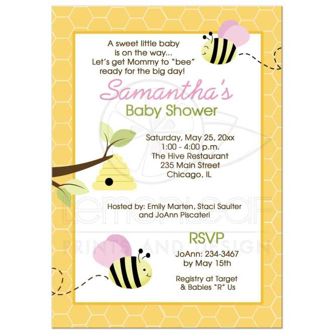 Ble Bee Pink Baby Shower