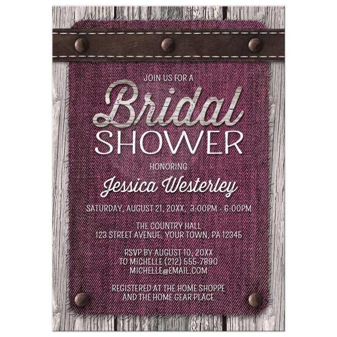 Country Mason Jar Rustic Bridal Shower Invitations Personalized Invites