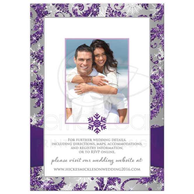 Fall Purple Laser Cut Wedding Invitations Iwsm034