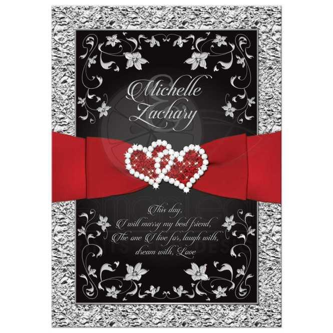 Black And Red Wedding Invitations Template Cdv79xge
