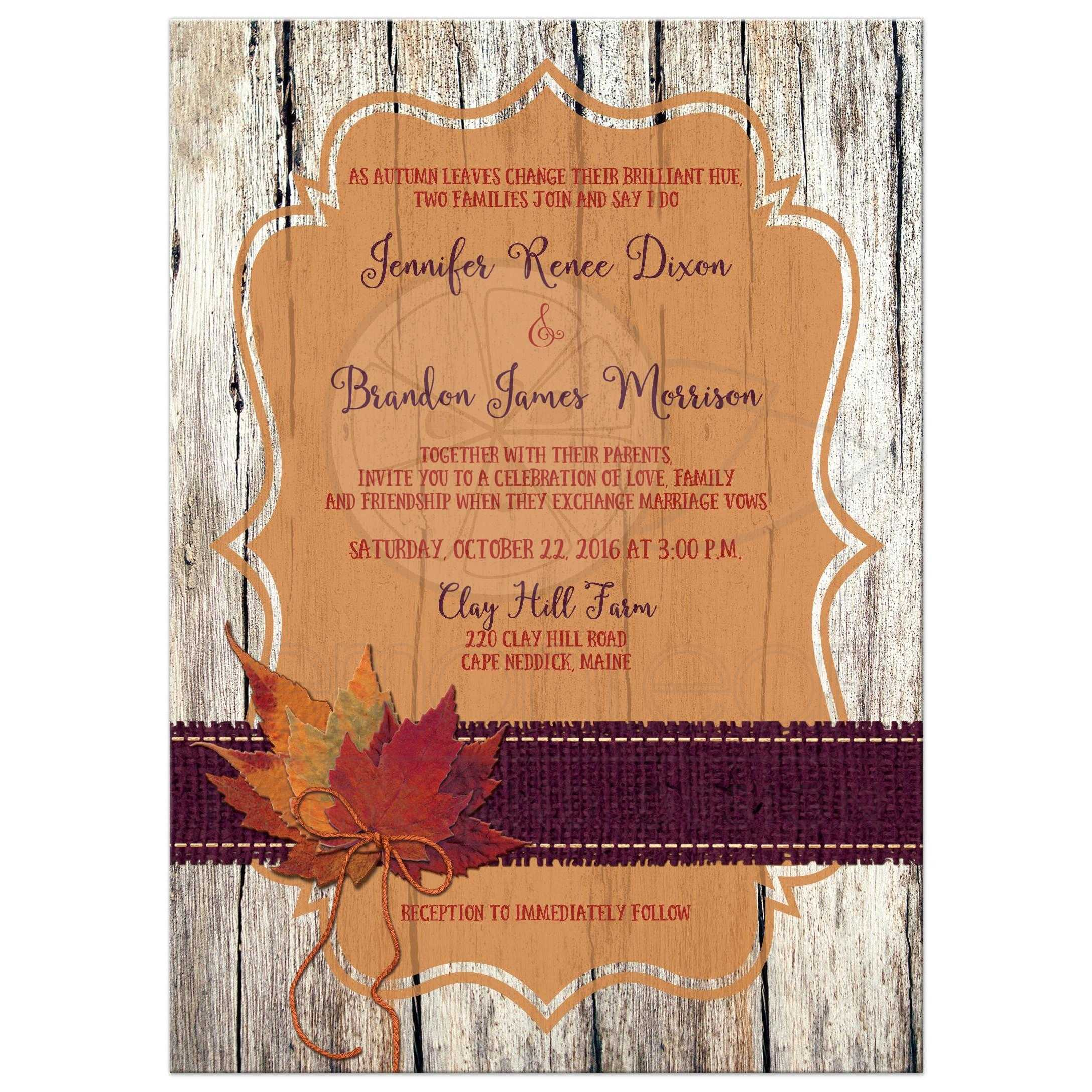 Red Barn Wedding Invitations