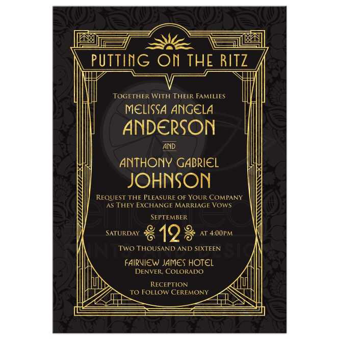 Amusing The Great Gatsby Wedding Invitations 53 About Remodel Luxury With
